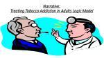 narrative treating tobacco addiction in adults logic model
