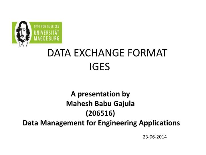 data exchange format iges n.