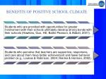 benefits of positive school climate