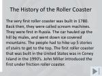 the history of the roller coaster