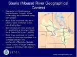 souris mouse river geographical context
