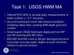 task 1 usgs hwm ma