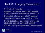task 3 imagery exploitation
