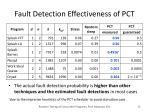 fault detection effectiveness of pct