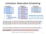 limitation redundant scheduling