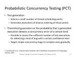 probabilistic concurrency testing pct