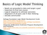 basics of logic model thinking