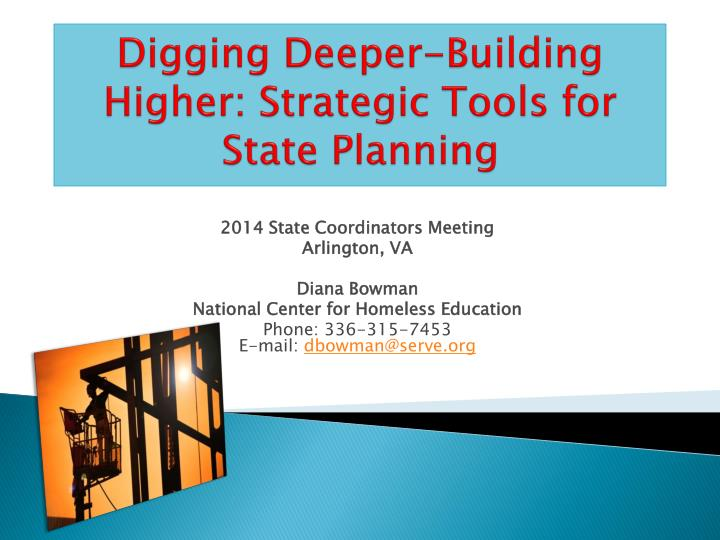 digging deeper building higher strategic tools for state planning n.