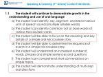 speaking listening 1 st grade content standards