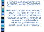 4 que modelos pedagogicos son favorables para la educaci n en ddhh