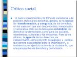 cr tico social