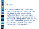 vitalista