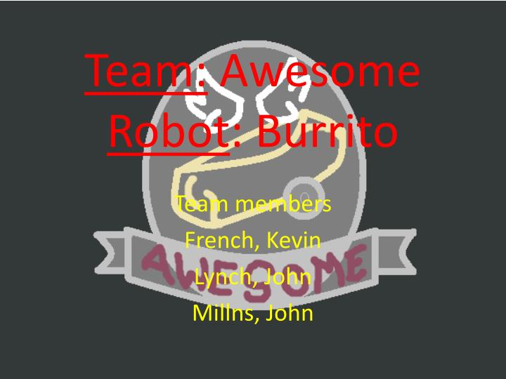 team awesome robot burrito n.