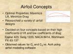 airfoil concepts