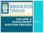 college scholarship audition process