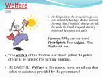 welfare noun