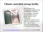 c limate controlled storage facility