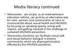 media literacy continued