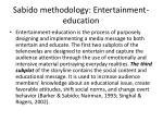 sabido methodology entertainment education