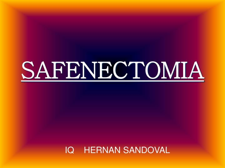 safenectomia n.