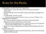 rules for the media