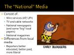 the national media