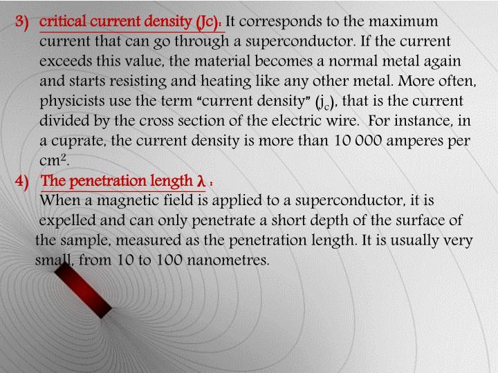 critical current density (