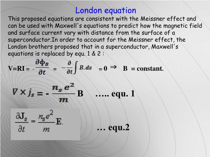 London equation
