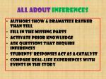 all about inferences