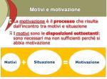 motivi e motivazione