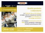 qualit prodotto e laboratorio