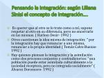 pensando la integraci n seg n liliana sinisi el concepto de integraci n