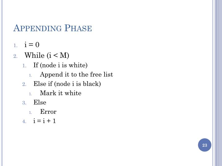 Appending Phase
