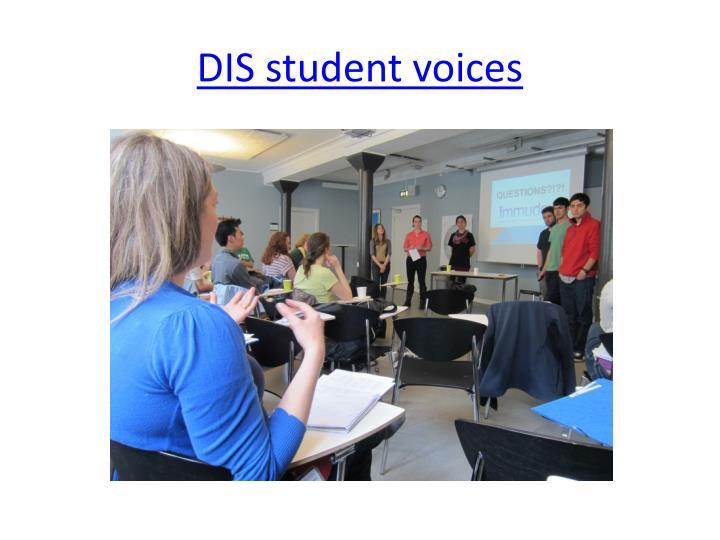 DIS student