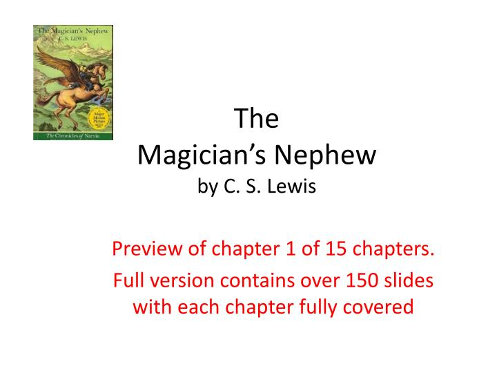 the magician s nephew by c s lewis n.