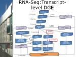 rna seq transcript level dge