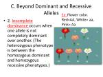 c beyond dominant and recessive alleles1