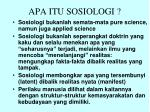 apa itu sosiologi