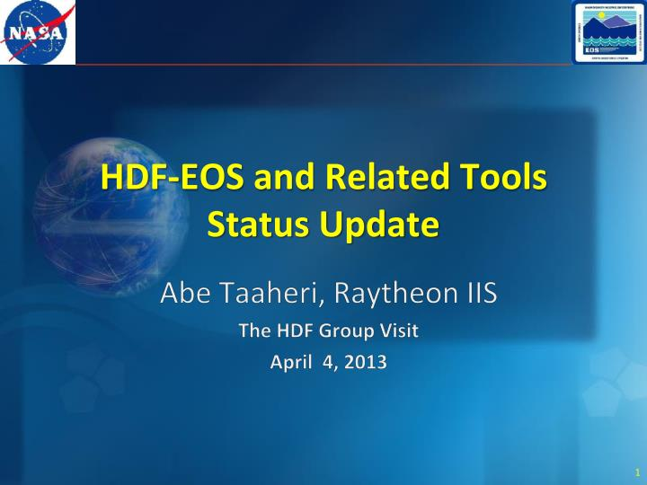 hdf eos and related tools status update n.