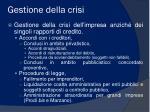 gestione della crisi