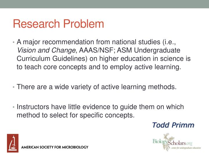 research problem n.
