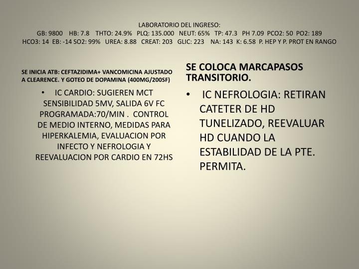 LABORATORIO DEL INGRESO: