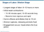 stages of labor dilation stage