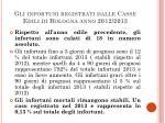 gli infortuni registrati dalle casse edili di bologna anno 2012 2013