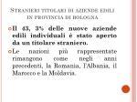 stranieri titolari di aziende edili in provincia di bologna