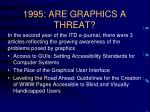 1995 are graphics a threat