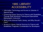 1995 library accessibility