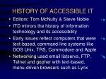 history of accessible it