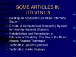 some articles in itd v1n1 3