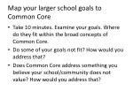 map your larger school goals to common core
